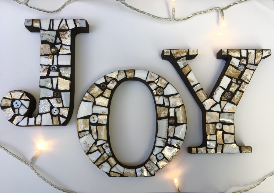 Mosaic Letters by Caroline Budden