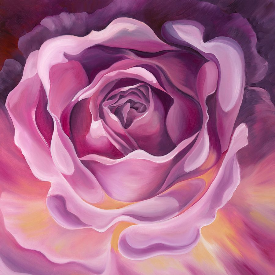 Almandine, a painting of a rose