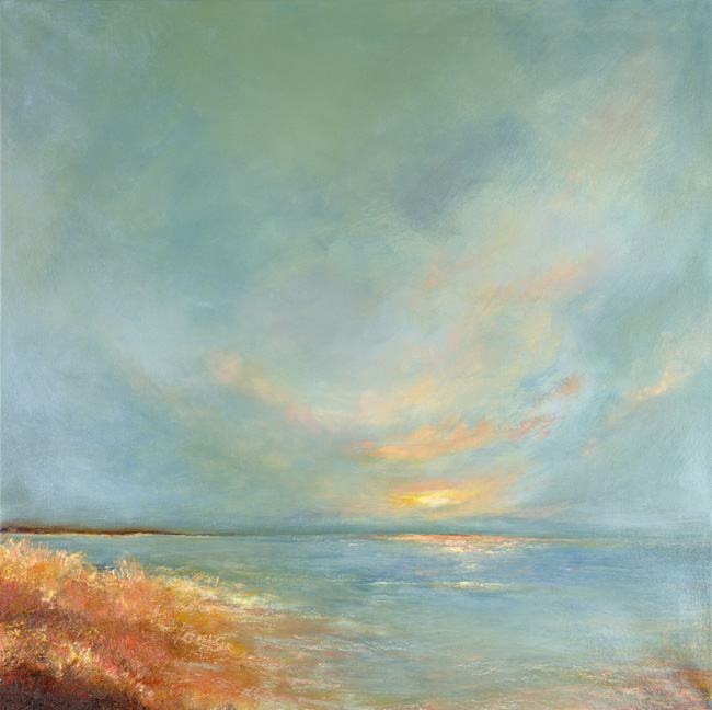 Abstract Seascape oil on canvas