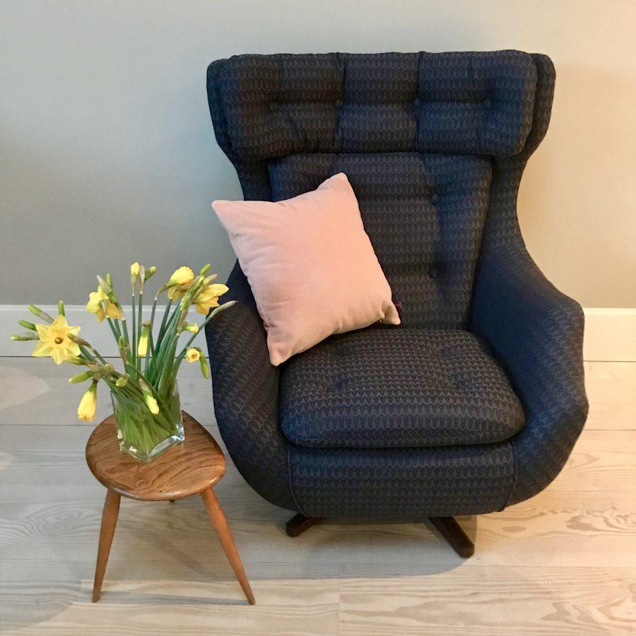 Reupholstered vintage Parker Knoll Statesman chair