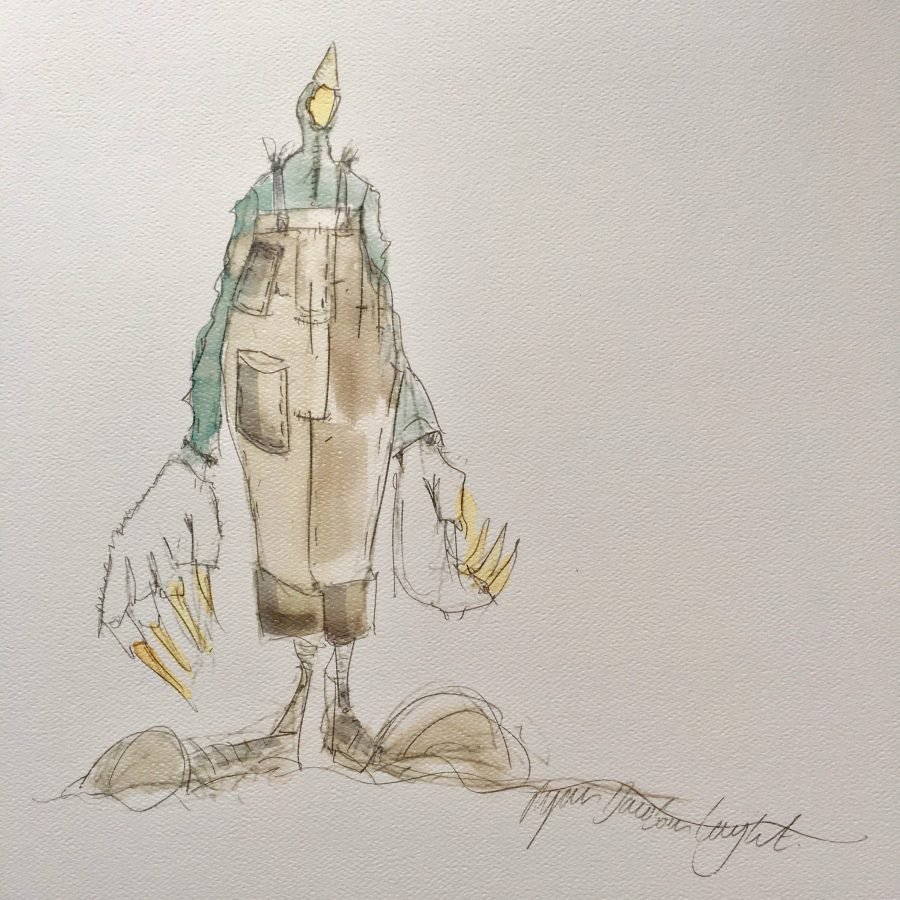Costume Illustration, 'Mole', 'Wind in the willows', Creation Theatre