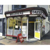 A 3D Mixed Media relief painting of Belchers Cafe in Hove