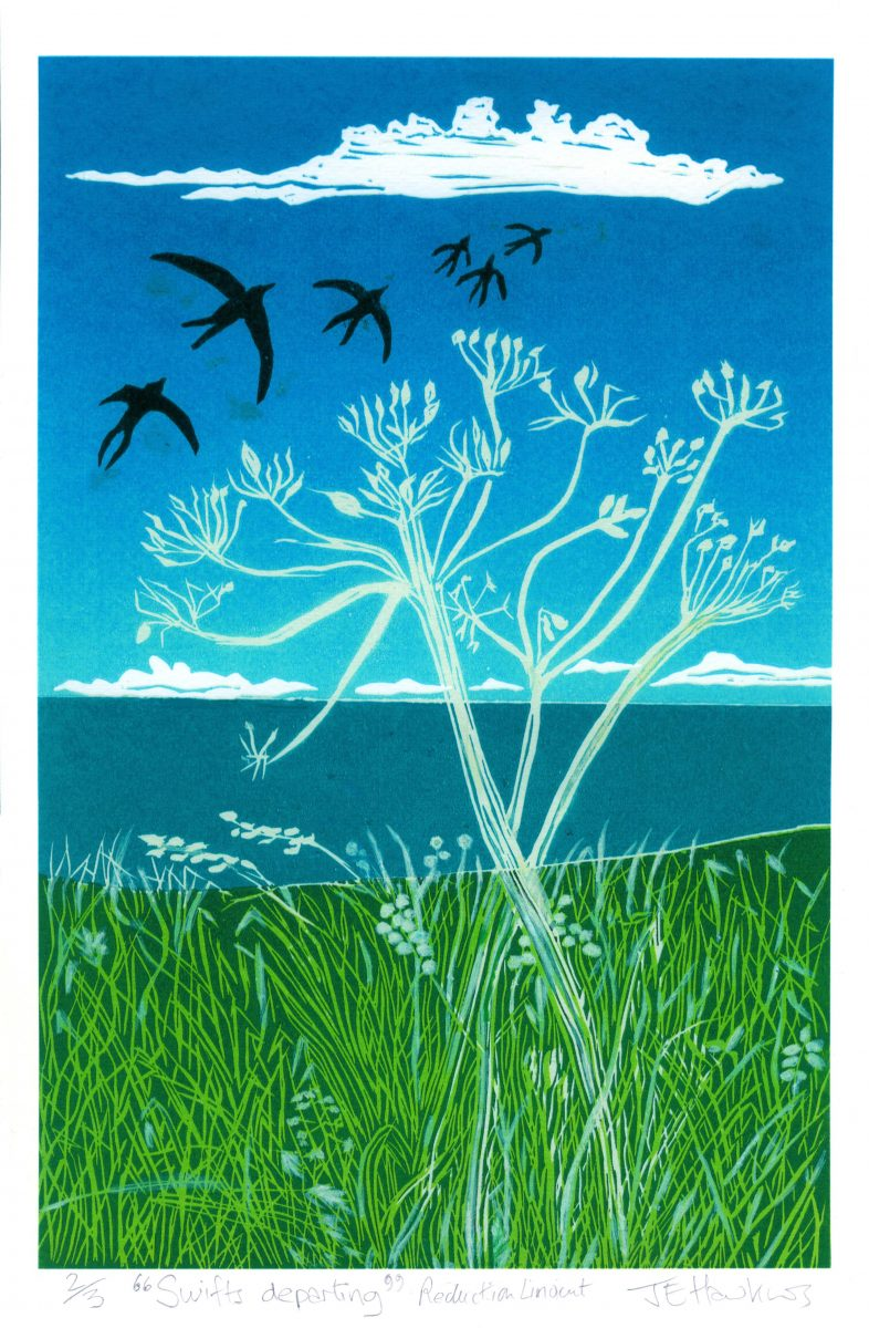Reduction lino cut