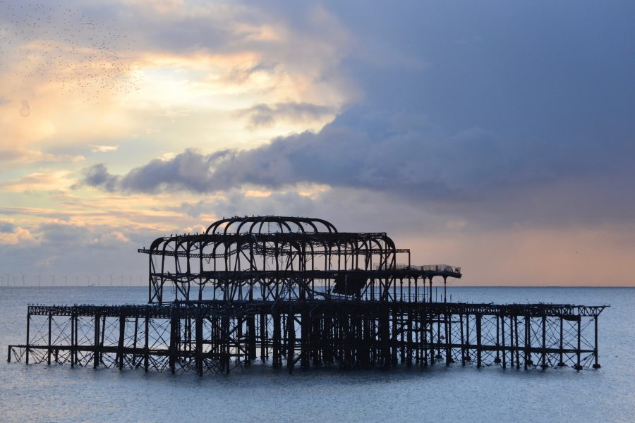 A view of the West Pier with changing light