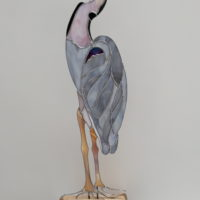 Heron in Stained Glass