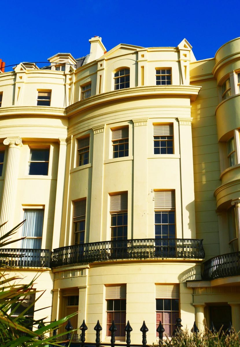 A beautiful Regency town house which is being restored.