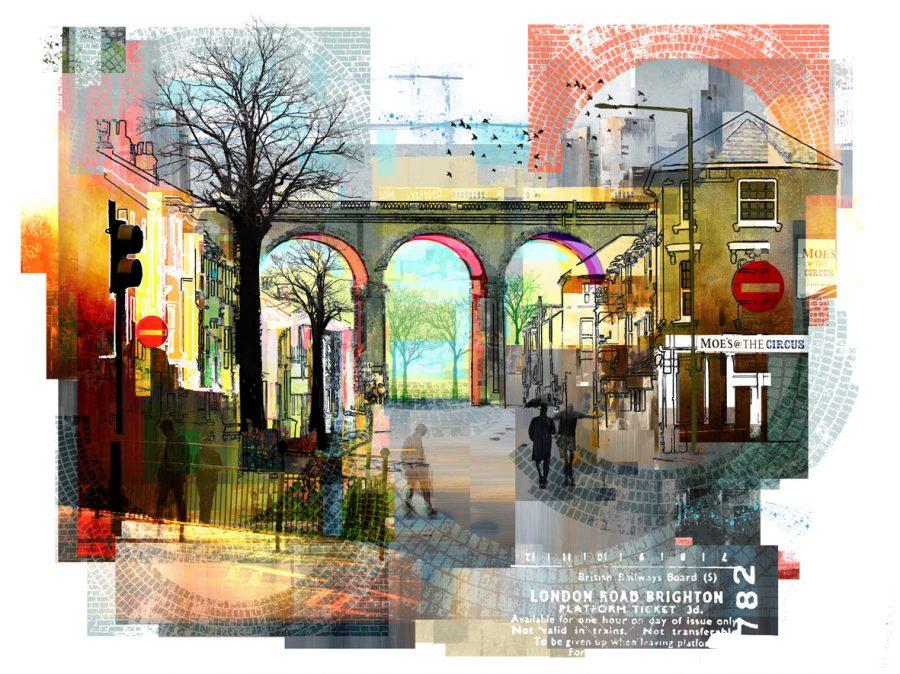Print of London Road Viaduct