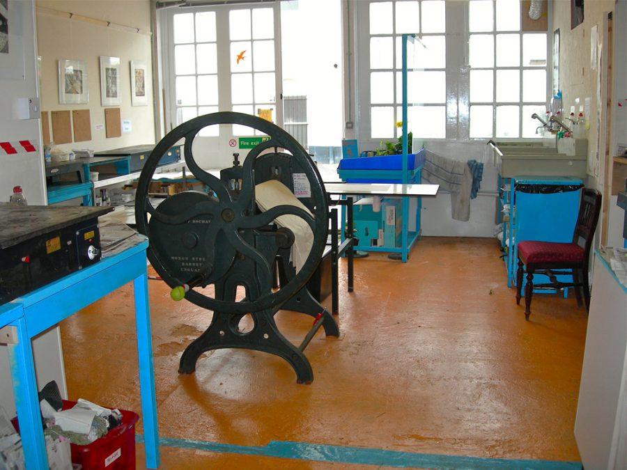 Inside of bip-Art Printmaking studio