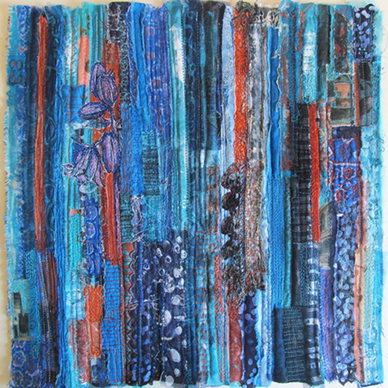 Textiles, Mixed Media & Embroidery. Framed Textile Artwork. 50 x 50cm