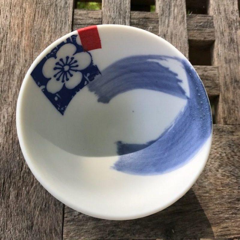 small porcelain Japanese inspired bowl