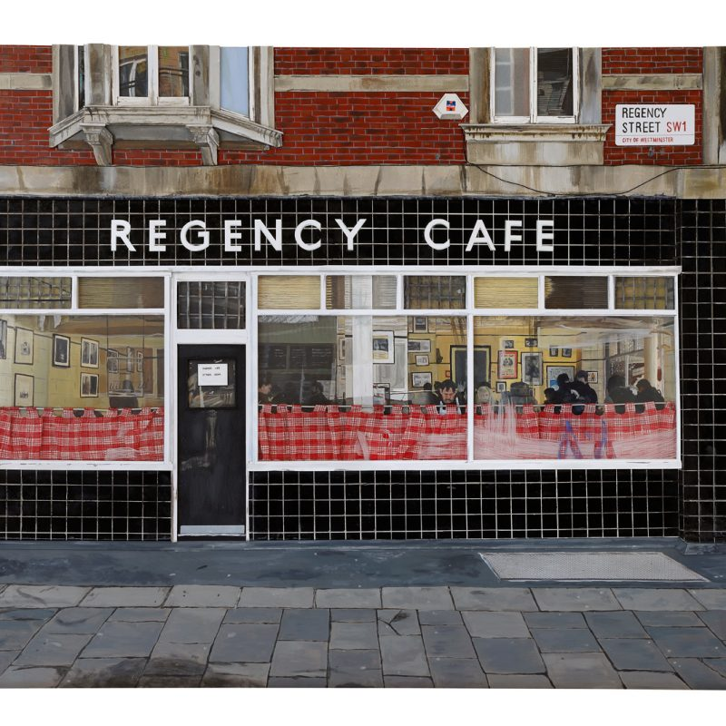 3D Mixed Media Relief Painting of Regency Cafe, London