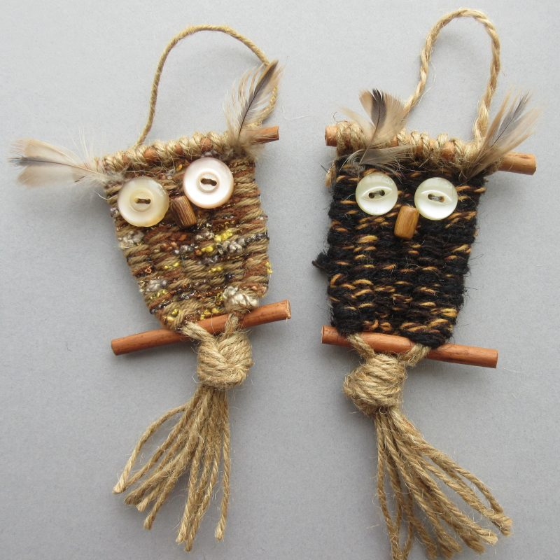 woven owl decorations