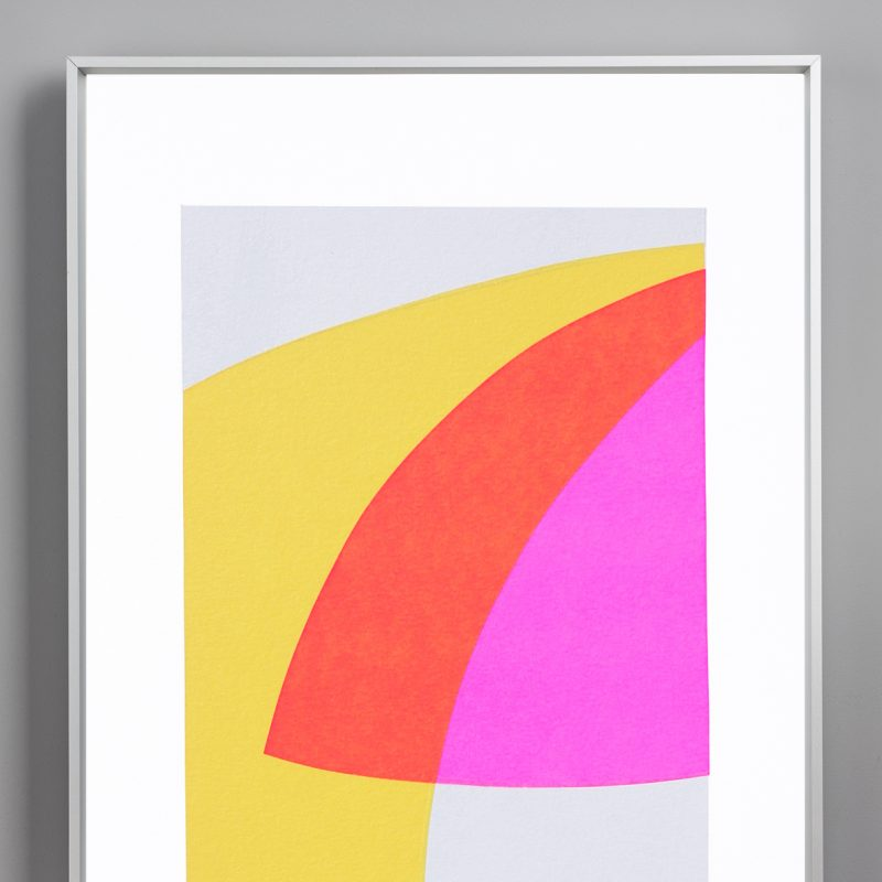 Fluro One Dimensions: 210mm by 297mm Limited Edition of 10 Signed and Numbered Hand Screen Printed in Sussex Price: £35