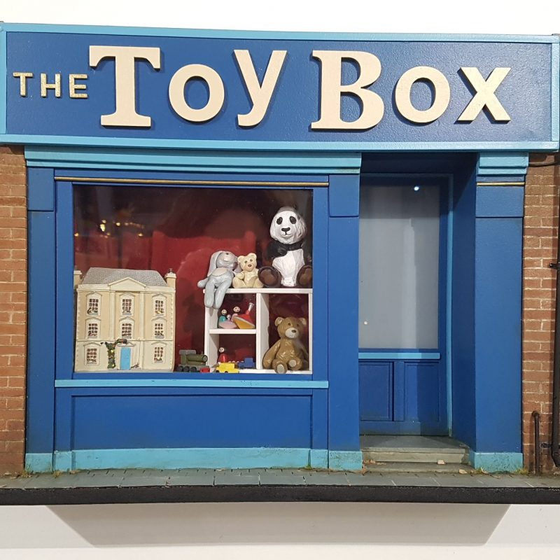 A detailed model of TOY BOX shop