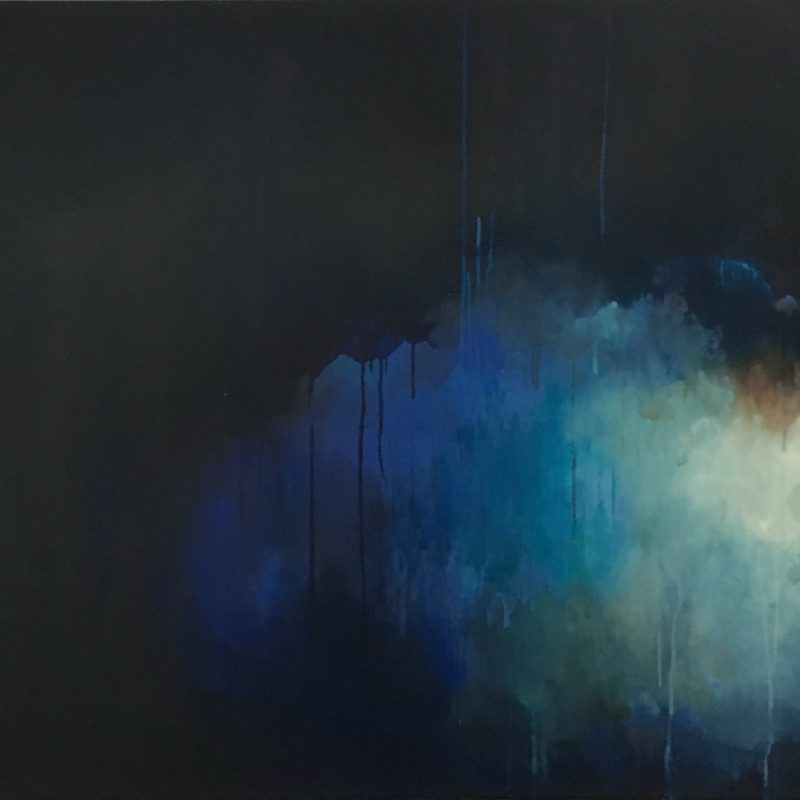 Dark moody abstract oil painting