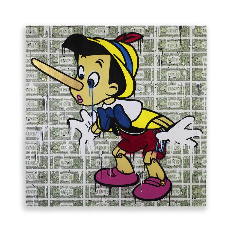 Pinocchio Painting on paper