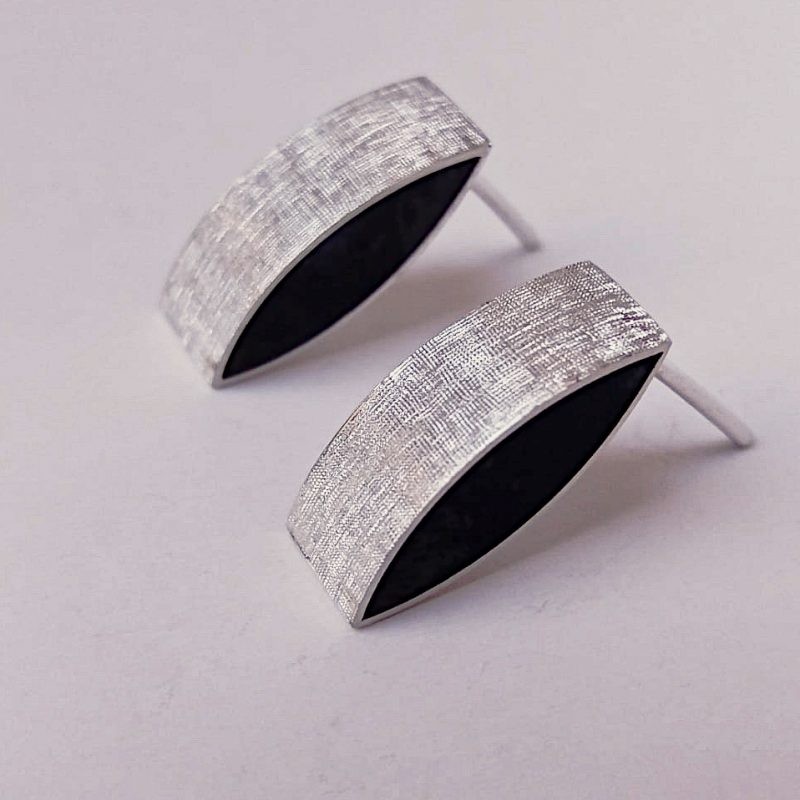 Silver pillow earrings