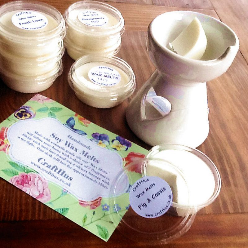 Handmade soy wax deliciously scented melts and burners