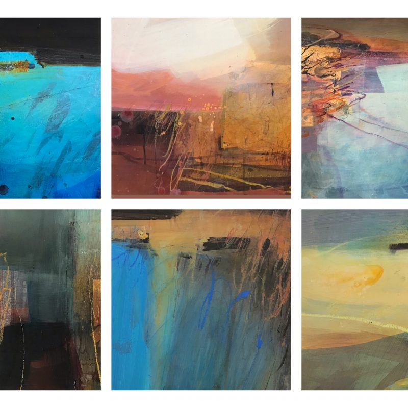 A collection of #artistsupportpledge paintings all priced at £195 framed. This is part of an initiative started by Matthew Burrows MBE to help support artists who have lost income over the pandemic.