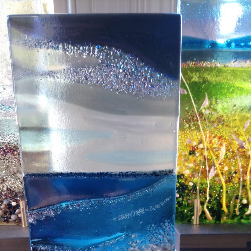 textured glass panel