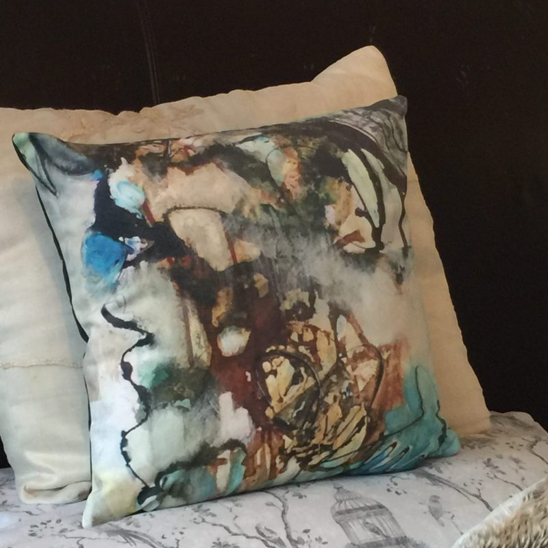 Beautiful Art Cushion - Emerald Dreams