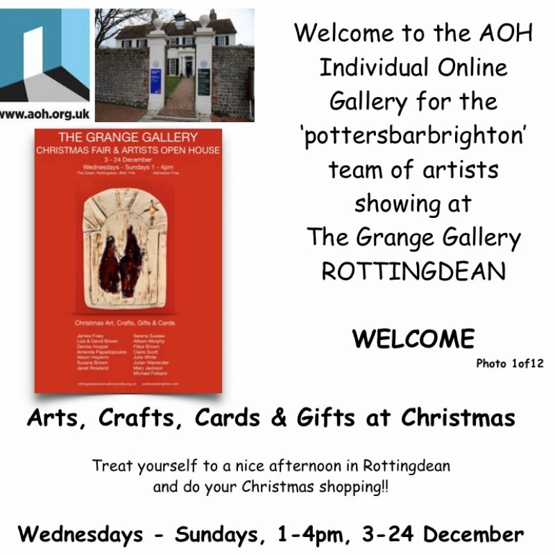Photo 1. Welcome to AOH at the Grange Gallery Rottingdean