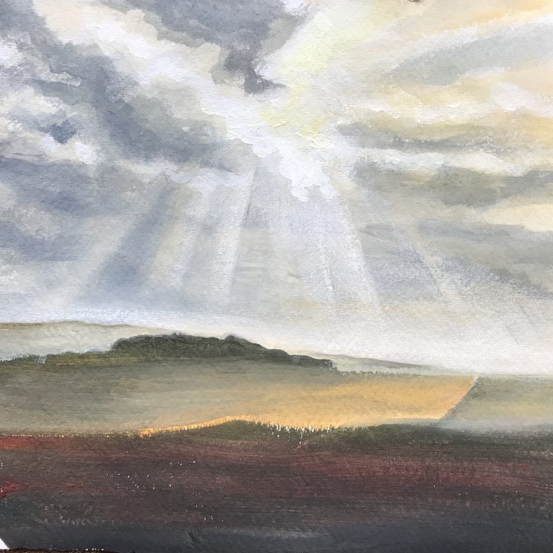 Landscape painting view from Ditchling Road