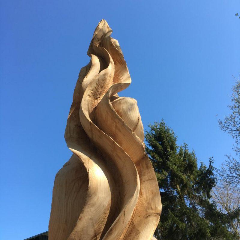 large carved wooden sculpture