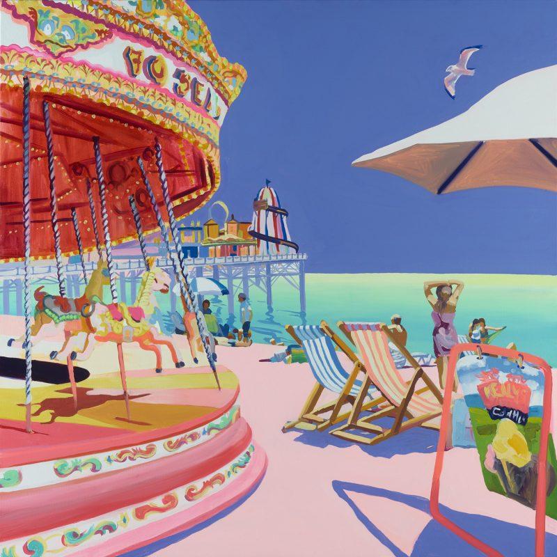 Painting of the Carousel on Brighton beach
