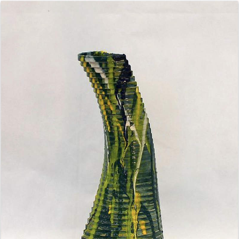 Geometric Vase - mainly green