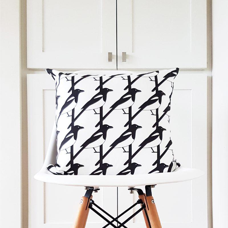 Hannah Issi Magpie Bird Cushion