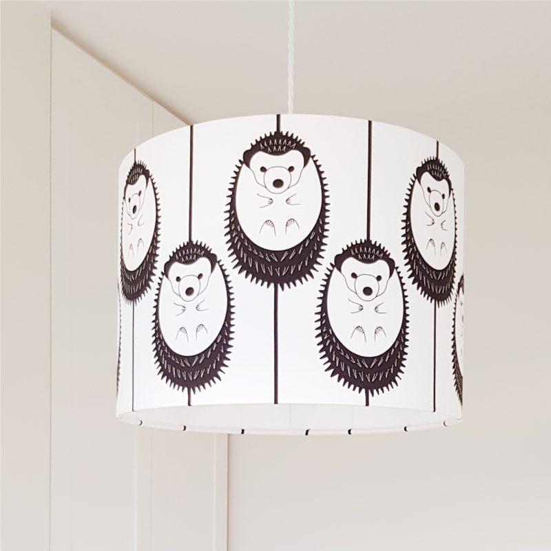 Hannah Issi Black & White Hedgehog Ceiling Pendant Lampshade