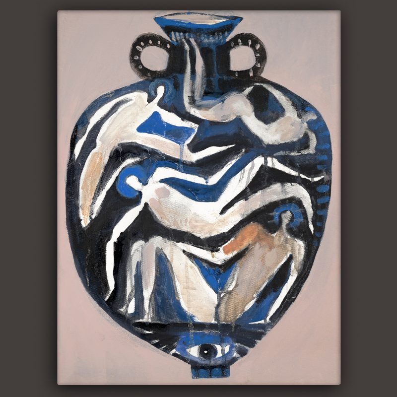 oil painting of a vase