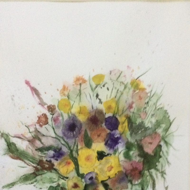 Spring bouquet of flowers in vase