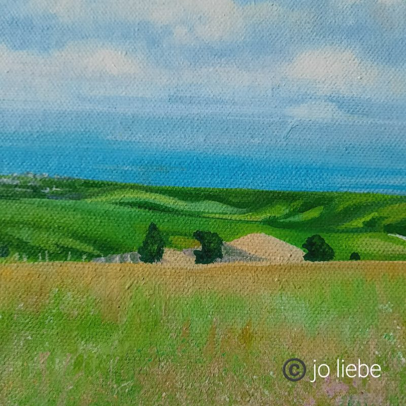 Blue skies, few clouds, rolling Downs. Capturing the essence of the Downs