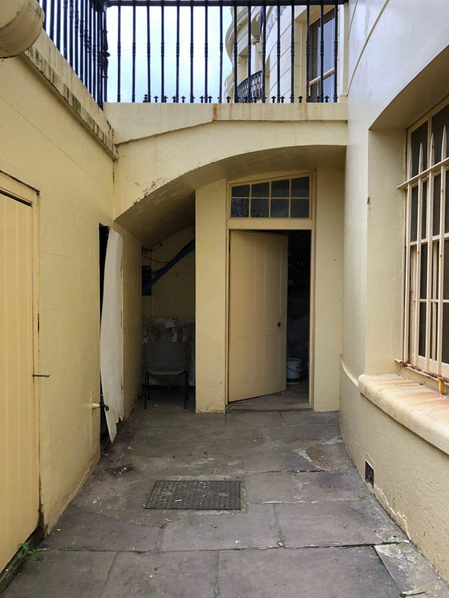 Entrance to basement