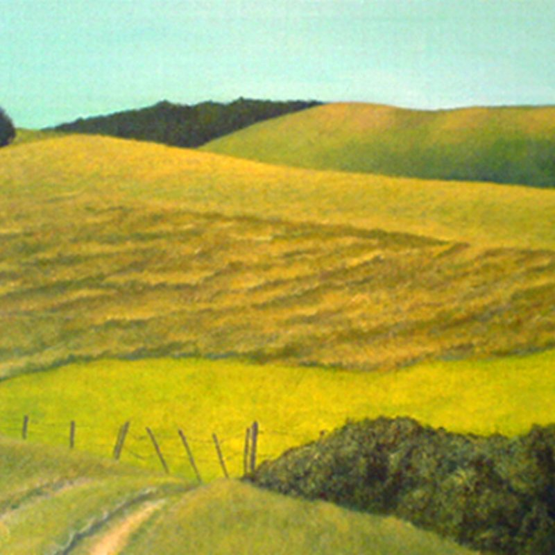 Landscape painting of South Downs, near Lewes