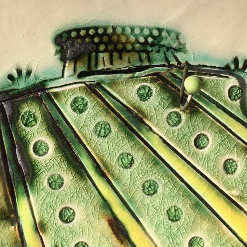 Landscape in ceramic