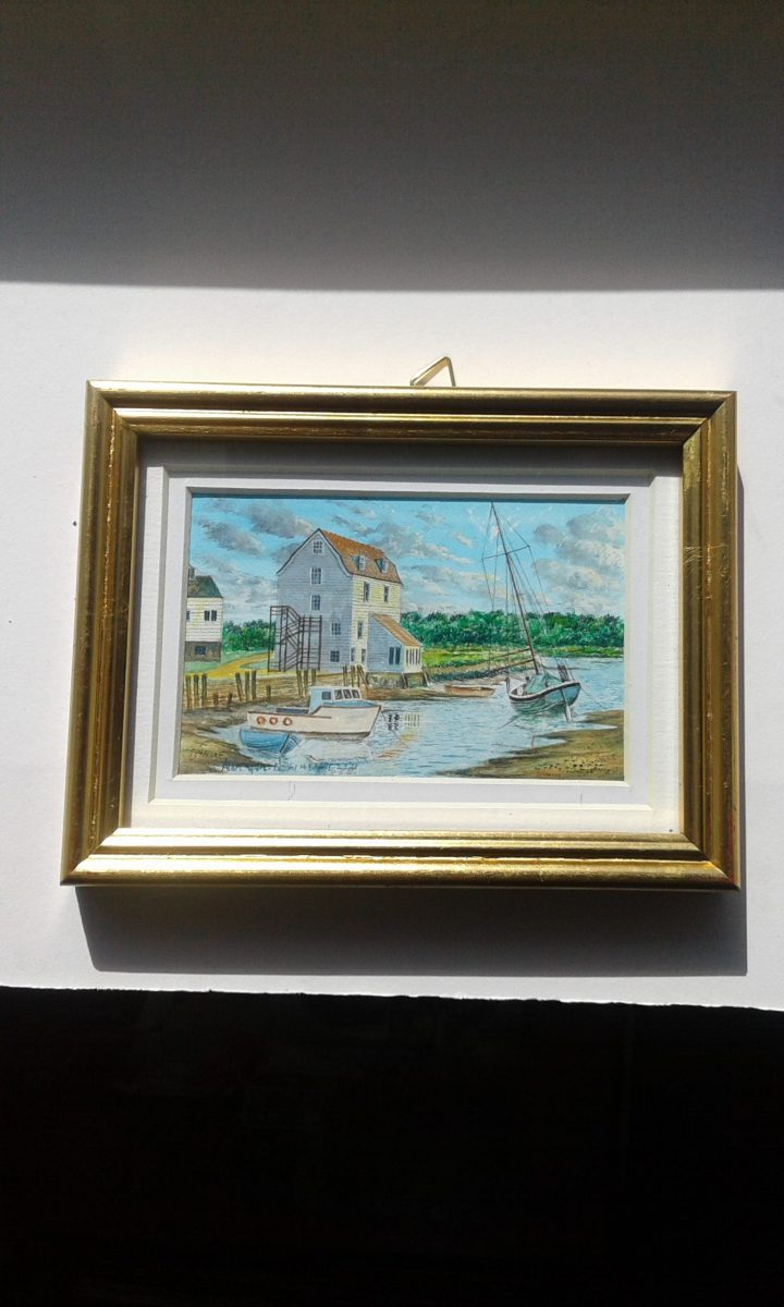 boats and mill in spring