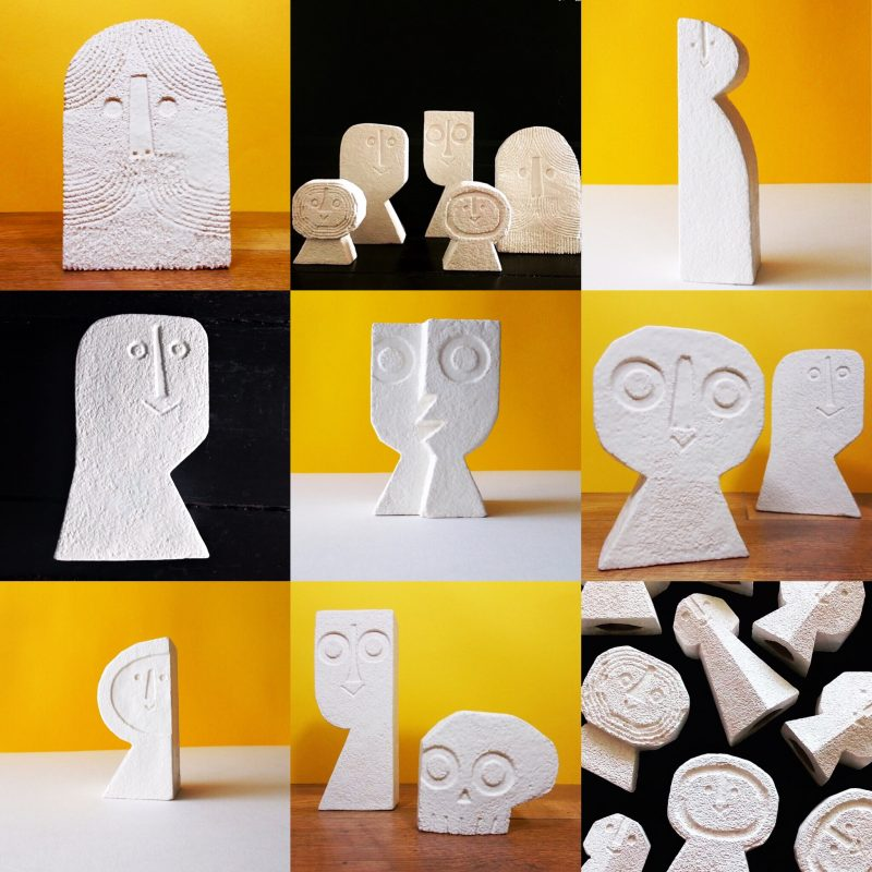 White ceramic objects