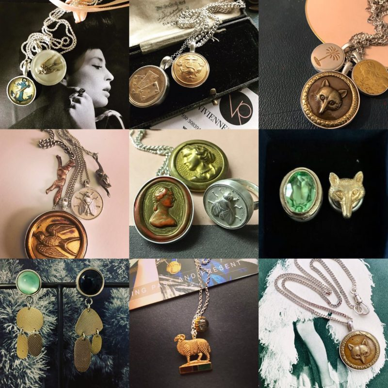 Various jewellery made from vintage buttons