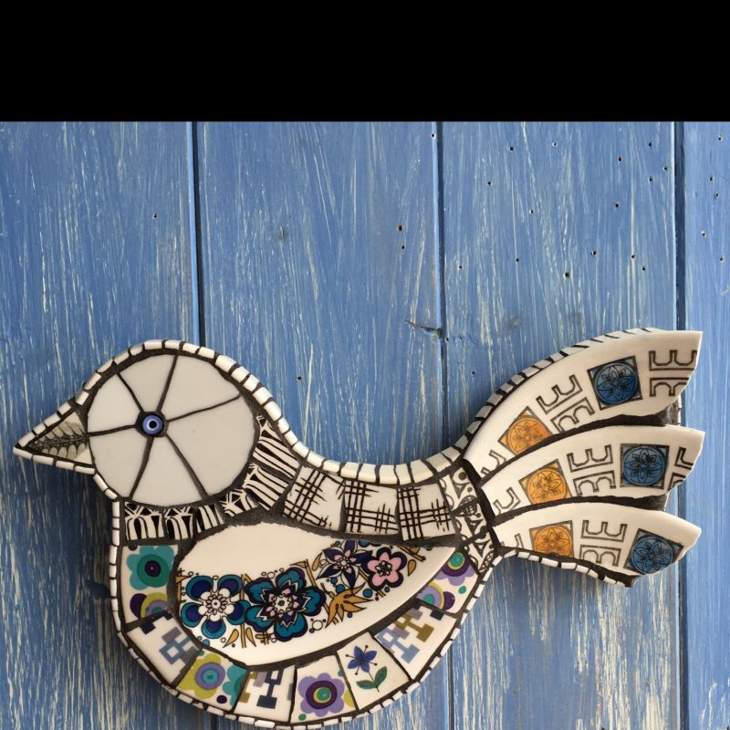 Bird shaped mosaic