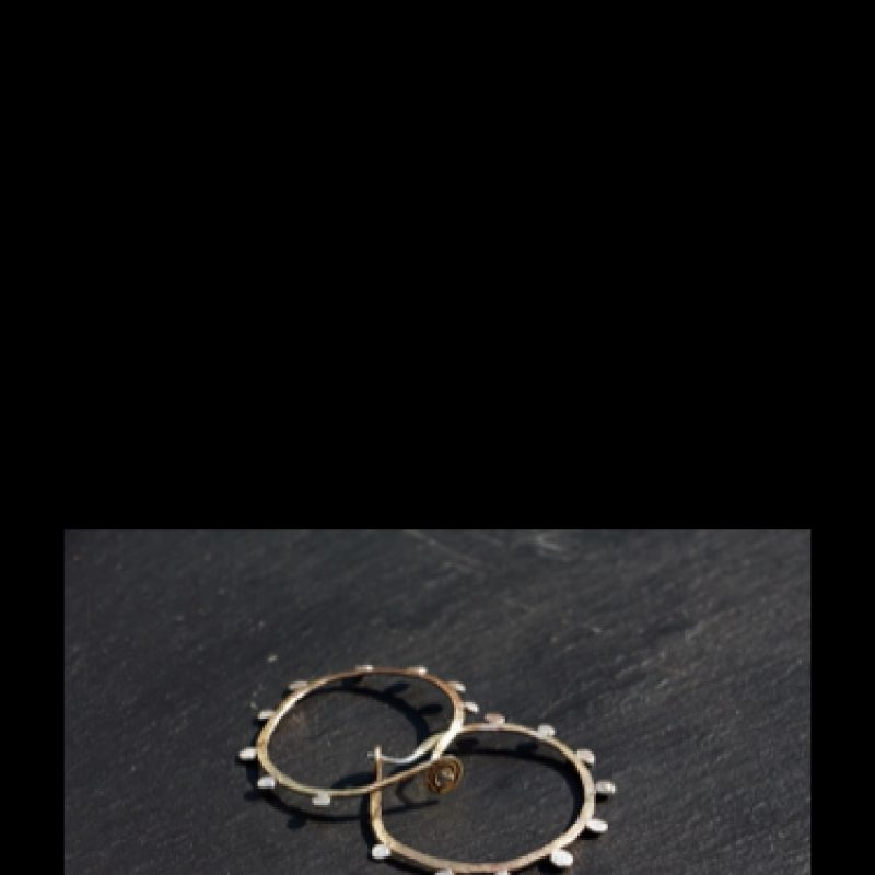 Silver jewellery in organic forms.