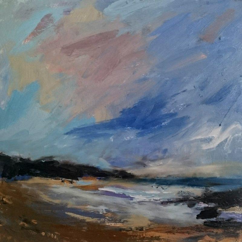 PORTHMEOR BEACH, Oil on panel, 30x30 cm