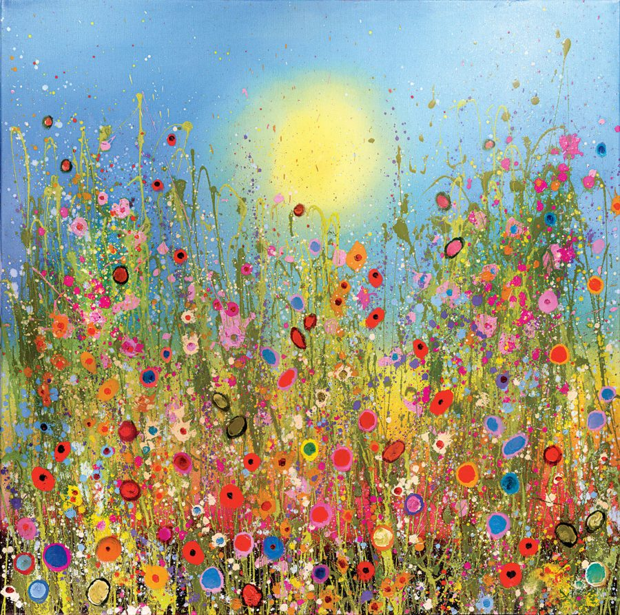 Beautiful bright coloured meadows and flowers