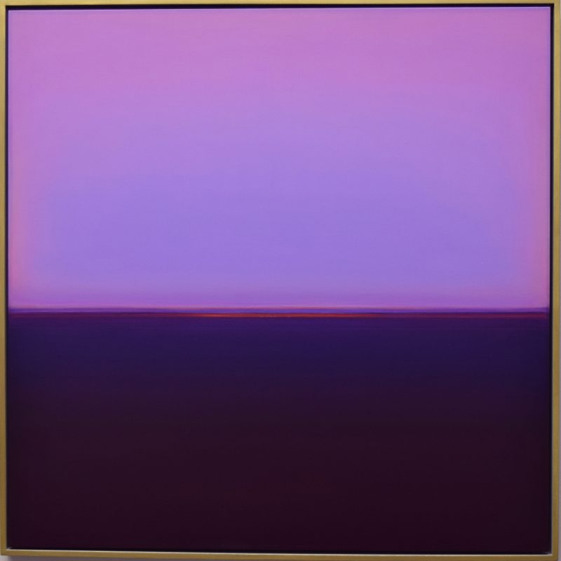 A beautiful sunset or sunrise in purple and violet