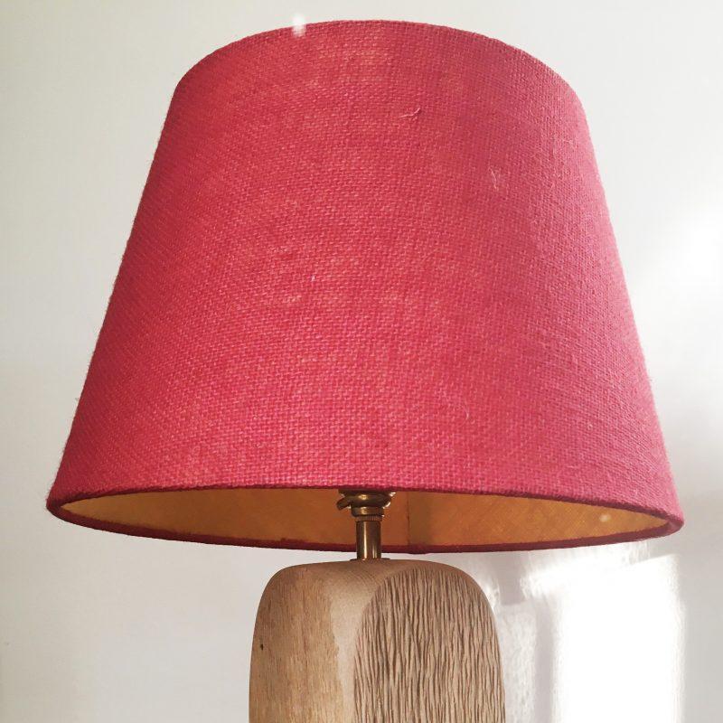 Carved Oak Lamp