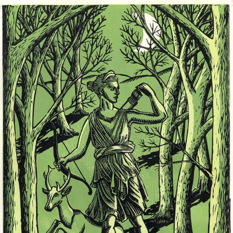 Artemis in a wood