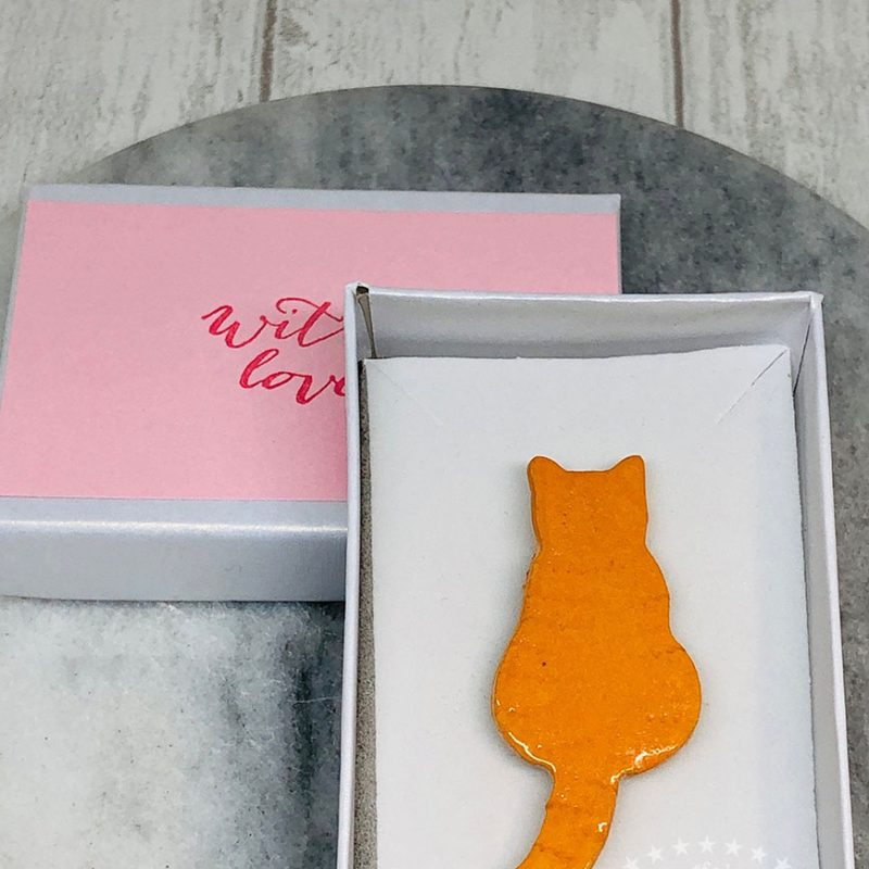 Ginger Cat Brooch
