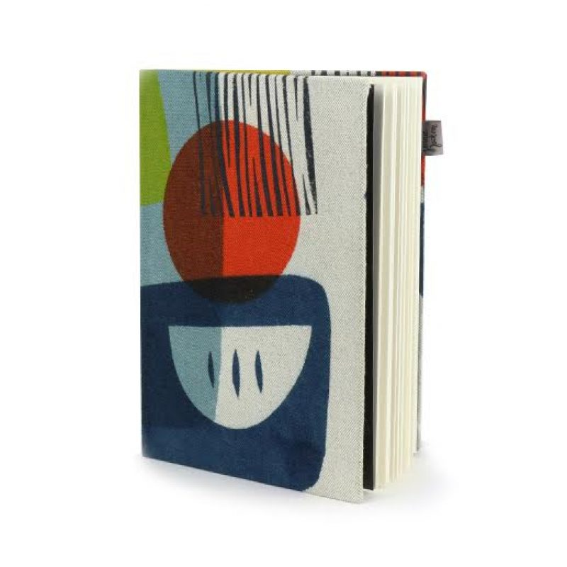 Hand Printed cloth covered note book